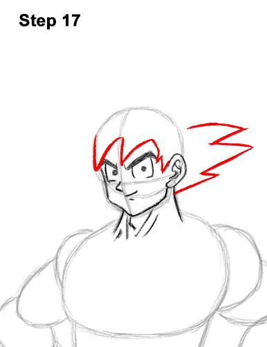 Cómo dibujar a Goku de cuerpo completo Dragon Ball Z 17