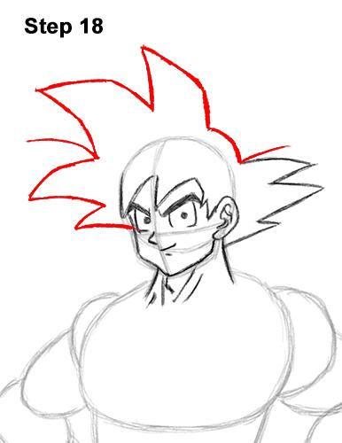 Cómo dibujar a Goku de cuerpo completo Dragon Ball Z 18