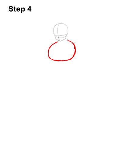 Cómo dibujar a Goku de cuerpo completo Dragon Ball Z 4