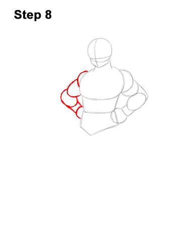 Cómo dibujar a Goku de cuerpo completo Dragon Ball Z 8