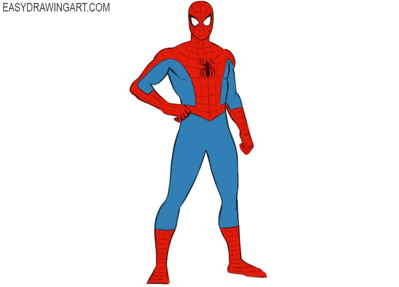 como dibujar al hombre araña