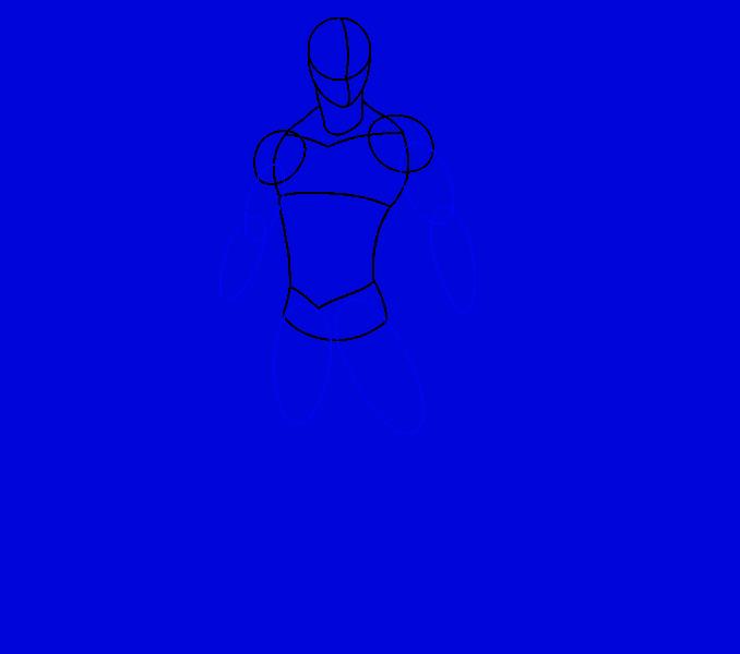 Cómo dibujar Spiderman: Paso 8