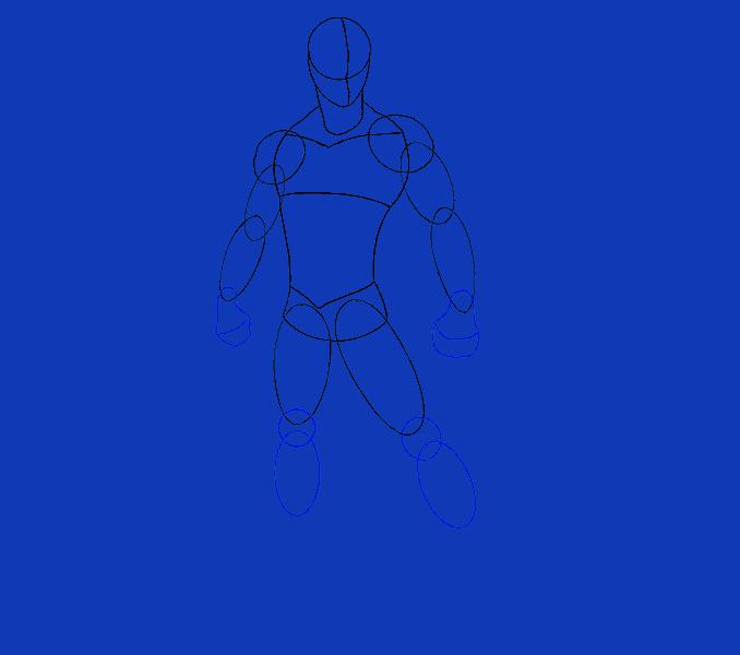 Cómo dibujar Spiderman: Paso 9