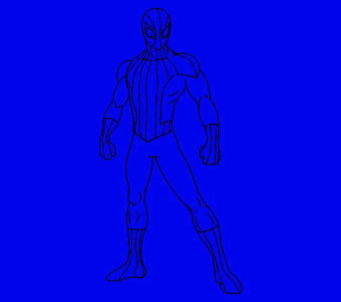 Cómo dibujar Spiderman: Paso 18