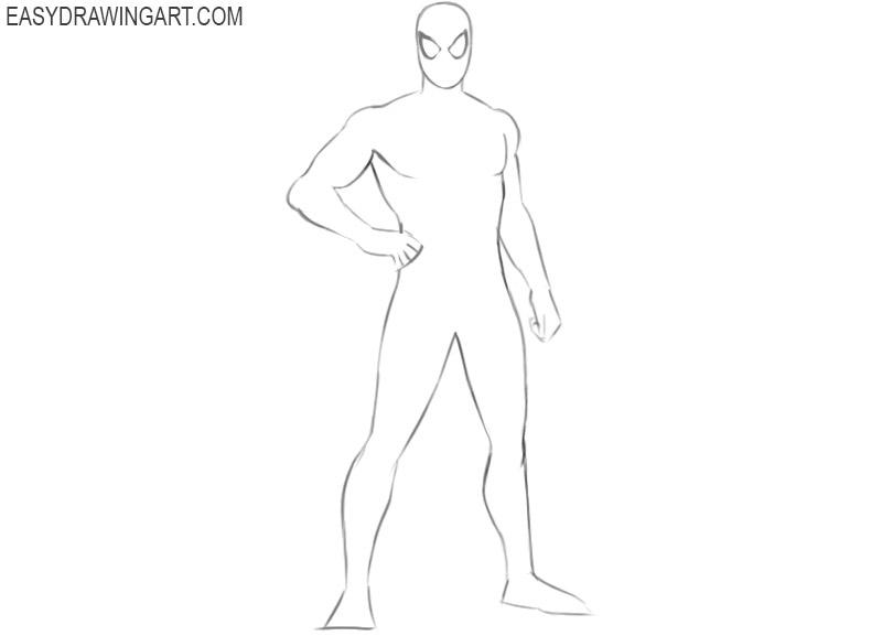 cómo dibujar spiderman dibujar tan lindo