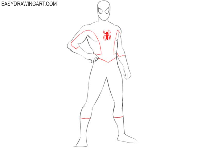 como dibujar un dibujo de spiderman