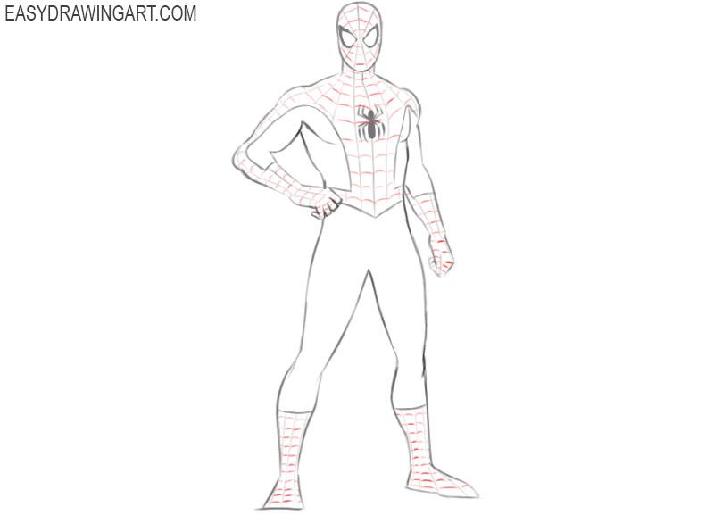 como dibujar a spiderman facilmente