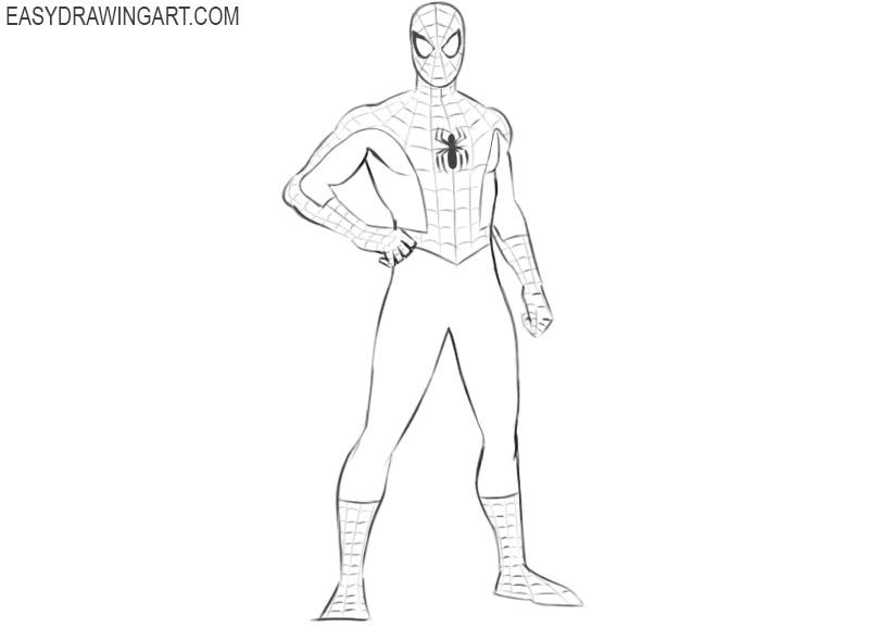como dibujar a spiderman facil