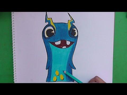 Dibujando y pintando a Electrochock (Bajoterra) - Drawing and painting to  Electrochock - YouTube, dibujos de Slugterra, como dibujar Slugterra paso a paso