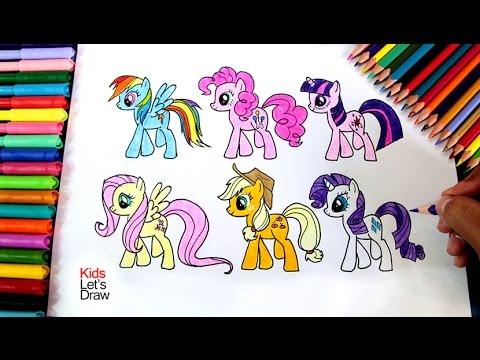 Cómo dibujar todas las ponis de My Little Pony, dibujos de Personajes De My Little Pony, como dibujar Personajes De My Little Pony paso a paso