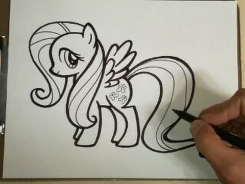 COMO DIBUJAR A FLUTTERSHY - MY LITTLE PONY how to draw fluttershy - my little pony, dibujos de Personajes De My Little Pony, como dibujar Personajes De My Little Pony paso a paso