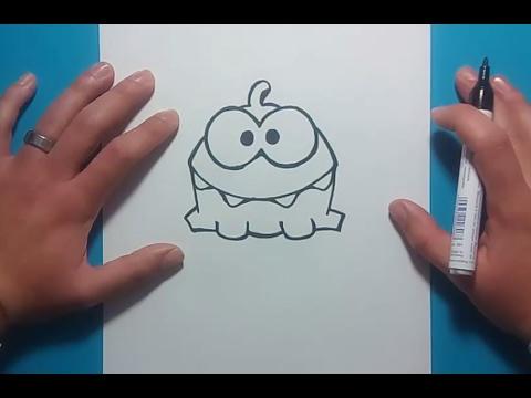 Como dibujar un monstruo paso a paso 18 How to draw a monster 18, dibujos de Monstruos, como dibujar Monstruos paso a paso