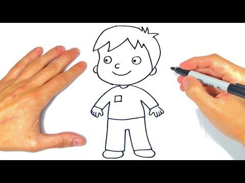 Cómo dibujar un Niño Paso a Paso Dibujo de Niño o Chico - YouTube, dibujos de Infantil, como dibujar Infantil paso a paso