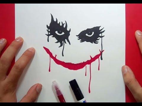Como dibujar a el Joker paso a paso 2 - Batman  How to draw the Joker 2 -  Batman, dibujos de Guasón, como dibujar Guasón paso a paso