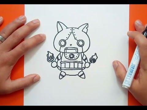 Como dibujar a Robonyan paso a paso - Yo Kai Watch  How to draw Robonyan -  Yo Kai Watch, dibujos de Yo Kai Watch, como dibujar Yo Kai Watch paso a paso