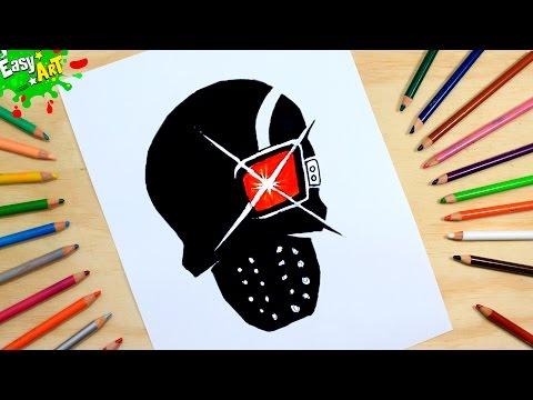 Cómo Dibujar el logo del Deadshot │How to draw logo Deadshot │Suicide Squad  - YouTube, dibujos de El Logo De Deadshot De El Escuadron Suicida, como dibujar El Logo De Deadshot De El Escuadron Suicida paso a paso