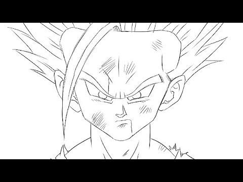 Aprende a dibujar a Son Gohan (Dragon Ball Z) en 5 minutos, dibujos de Dragon Ball Z, como dibujar Dragon Ball Z paso a paso