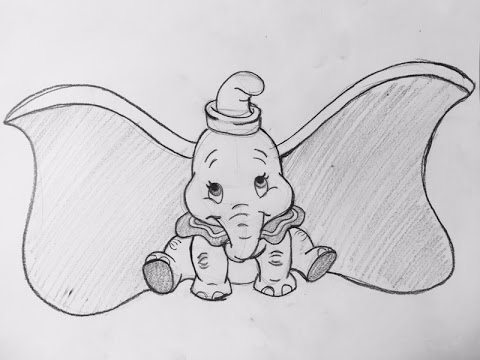 Como dibujar a DumboHow to draw dumbo(Disney), dibujos de Dumbo, como dibujar Dumbo paso a paso