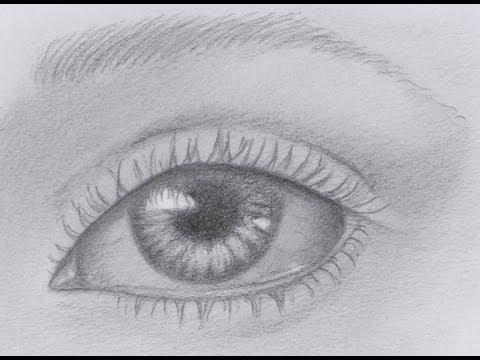 Aprender a dibujar: cómo dibujar un ojo realista - Arte Divierte, dibujos de Arte, como dibujar Arte paso a paso