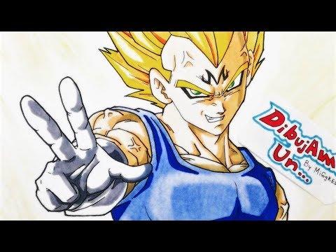 Como Dibujar a Majin Vegeta -  How to draw Majin Vegeta -, dibujos de A Vegeta Majin De Dragon Ball Z, como dibujar A Vegeta Majin De Dragon Ball Z paso a paso