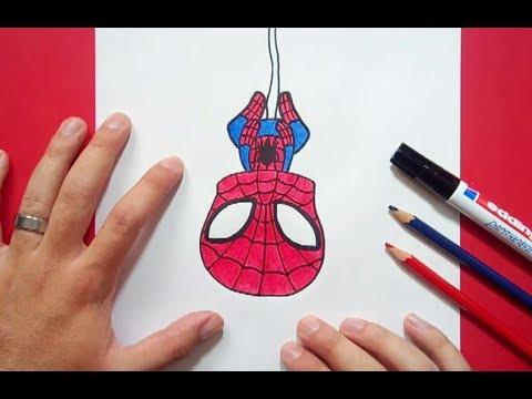 Como dibujar a Spiderman paso a paso 3 How to draw Spiderman 3, dibujos de A Spiderman, como dibujar A Spiderman paso a paso