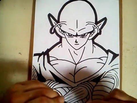 Como dibujar a piccolo de dragon ball z  how to draw piccolo dragon ball z, dibujos de A Piccolo De Dragon Ball, como dibujar A Piccolo De Dragon Ball paso a paso