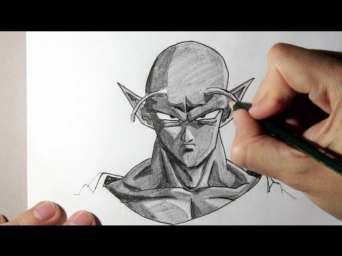 Cómo dibujar a Piccolo de Dragon Ball Z - Dibujos Para Pintar, dibujos de A Piccolo De Dragon Ball, como dibujar A Piccolo De Dragon Ball paso a paso