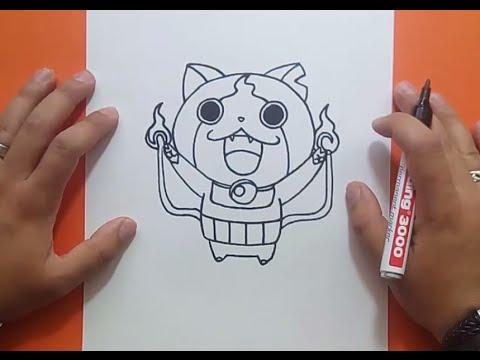 Como dibujar a Jibanyan paso a paso - Yo Kai Watch  How to draw Jibanyan -  Yo Kai Watch, dibujos de Yo Kai Watch, como dibujar Yo Kai Watch paso a paso