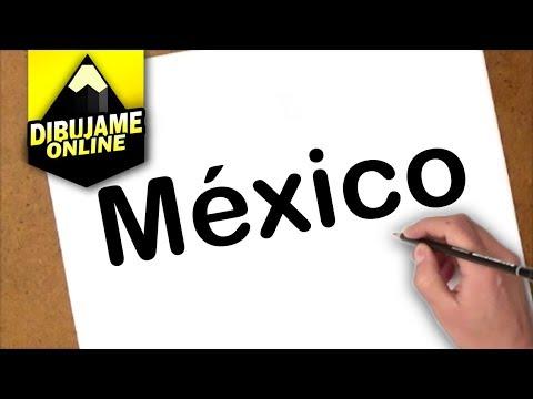 como transfomar la palabra méxico en un dibujo, dibujos de A Partir De La Palabra México, como dibujar A Partir De La Palabra México paso a paso