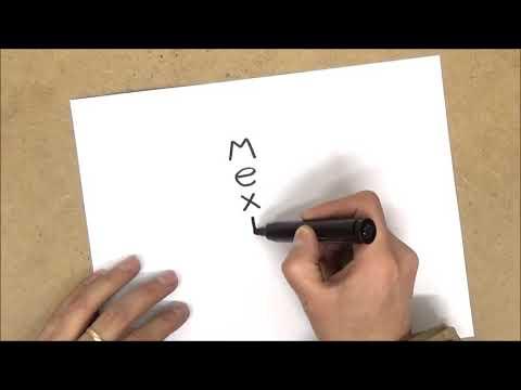 Como transformar la palabra méxico en un dibujo - YouTube, dibujos de A Partir De La Palabra México, como dibujar A Partir De La Palabra México paso a paso