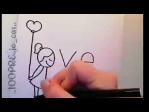 Como hacer un dibujo con la palabra love, dibujos de A Partir De La Palabra Love, como dibujar A Partir De La Palabra Love paso a paso