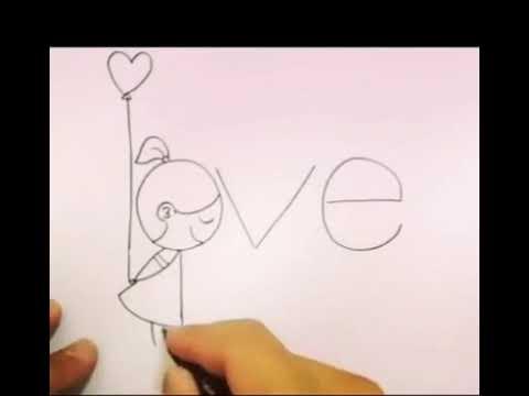 Como dibujar con la palabra love - YouTube, dibujos de A Partir De La Palabra Love, como dibujar A Partir De La Palabra Love paso a paso