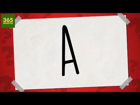 SACAR UN DIBUJO DE LA LETRA A - Dibujos fáciles paso a paso - YouTube, dibujos de A Partir De La Letra A, como dibujar A Partir De La Letra A paso a paso