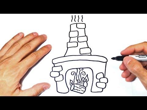 Cómo dibujar una Chimenea Paso a Paso  Dibujo de Chimenea - YouTube, dibujos de Una Chimenea, como dibujar Una Chimenea paso a paso