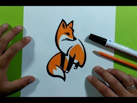 Como dibujar un zorro paso a paso 6  How to draw a fox 6, dibujos de Un Zorro, como dibujar Un Zorro paso a paso