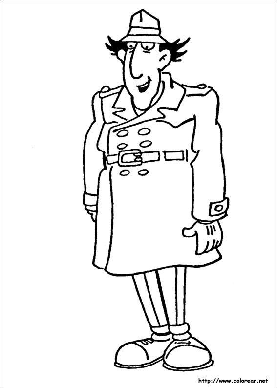 Dibujos para colorear de Inspector Gadget, dibujos de Inspector Gadget, como dibujar Inspector Gadget paso a paso