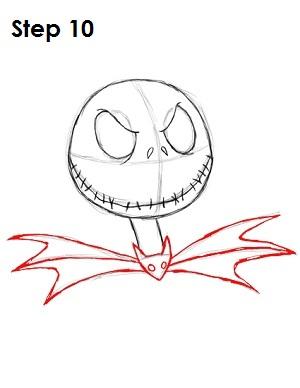Cómo dibujar Jack Skellington Paso 10