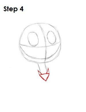 Cómo dibujar Jack Skellington Paso 4