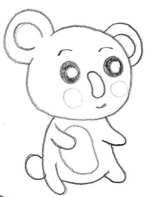 animal estilo cute para dibujar