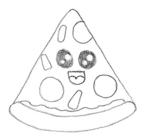 dibujo de comida estilo cute