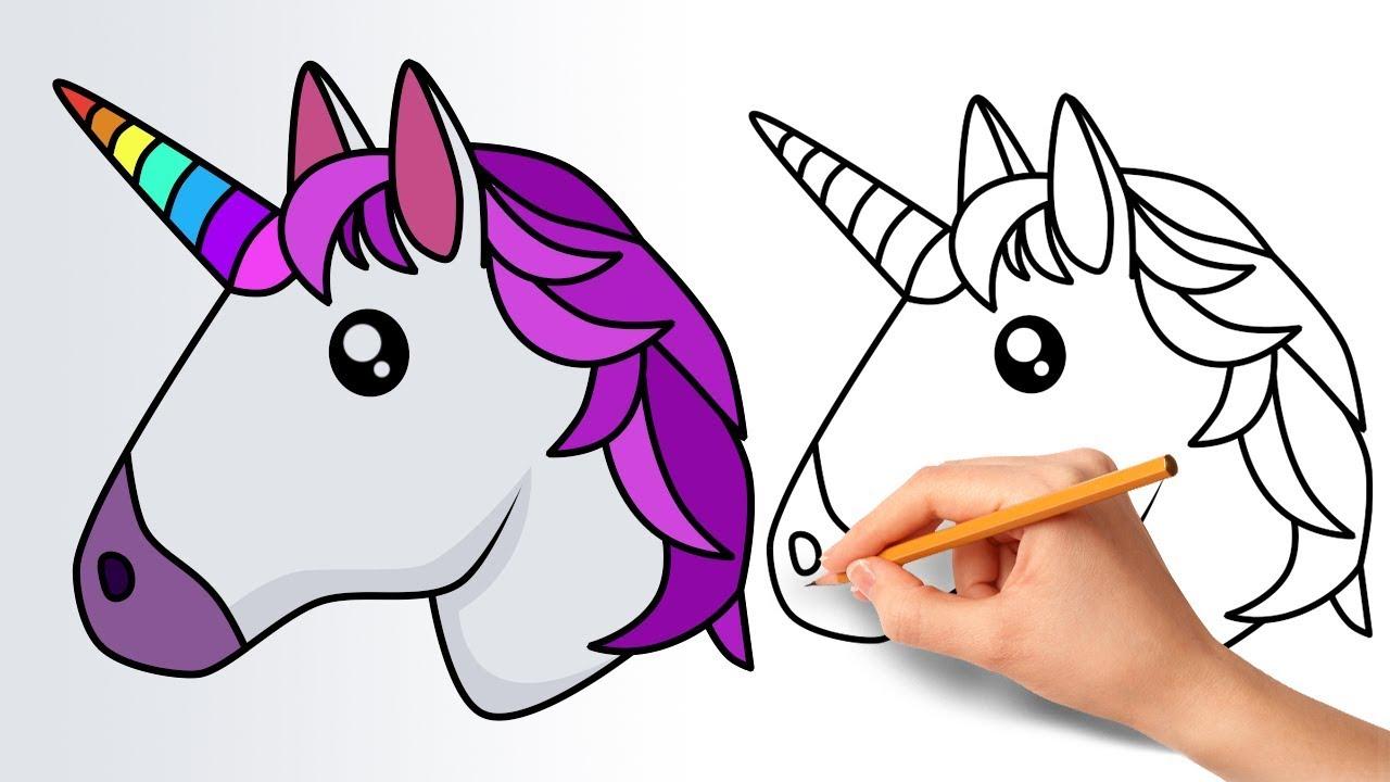 Manera de dibujar un unicornio Emojis