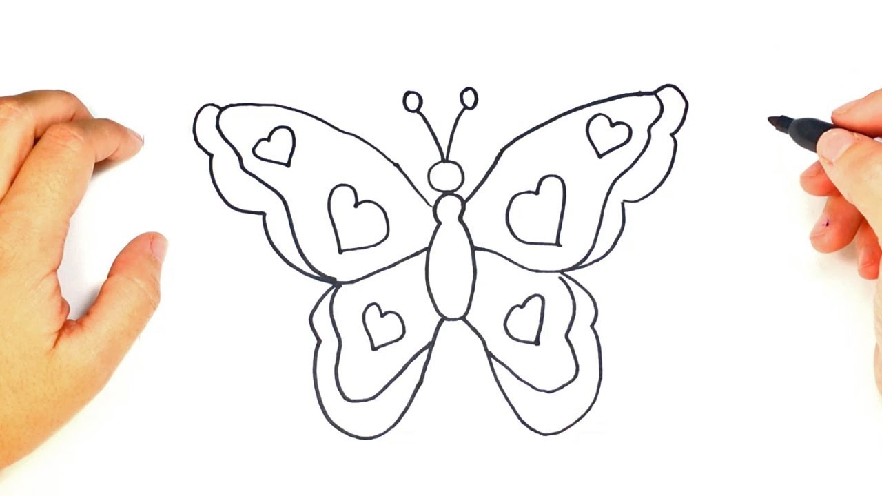 Cómo dibujar una Mariposa paso a paso Dibujo fácil de Mariposa, dibujos de Mariposas, como dibujar Mariposas paso a paso