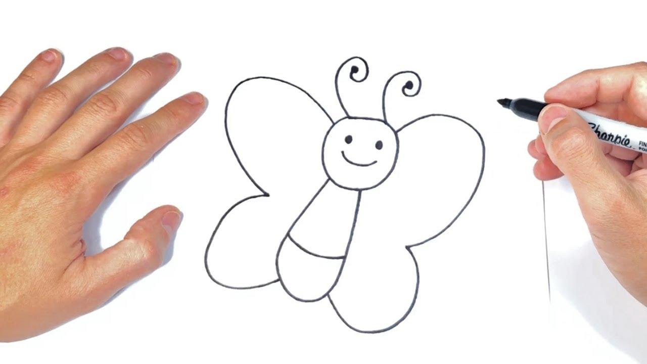 Como dibujar una Mariposa Fácil Dibujo de Mariposa paso a paso, dibujos de Mariposas, como dibujar Mariposas paso a paso