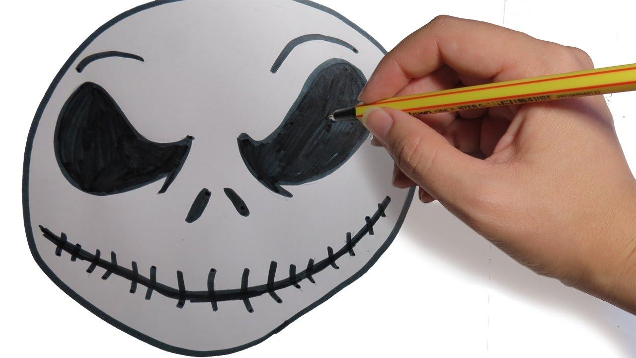 COMO DIBUJAR LA CARA DE JACK DE PESADILLA ANTES DE NAVIDAD: facil paso a paso, dibujos de La Cara De Jack Skeleton, como dibujar La Cara De Jack Skeleton paso a paso