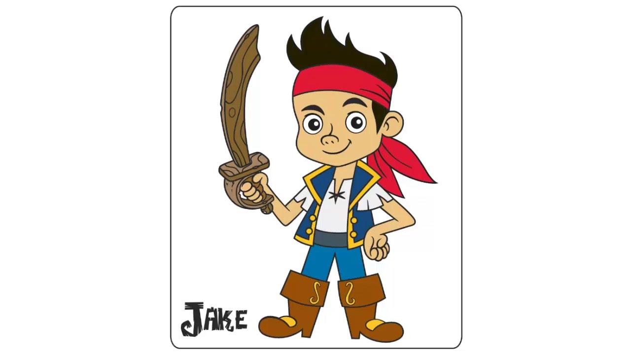 como dibujar y pintar a jake y los piratas, dibujos de Jake Piratas, como dibujar Jake Piratas paso a paso
