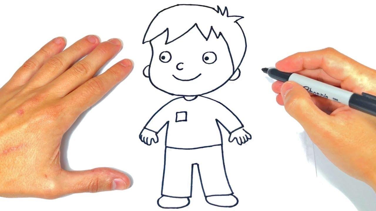 Cómo dibujar un Niño Paso a Paso Dibujo de Niño o Chico, dibujos de Infantil, como dibujar Infantil paso a paso