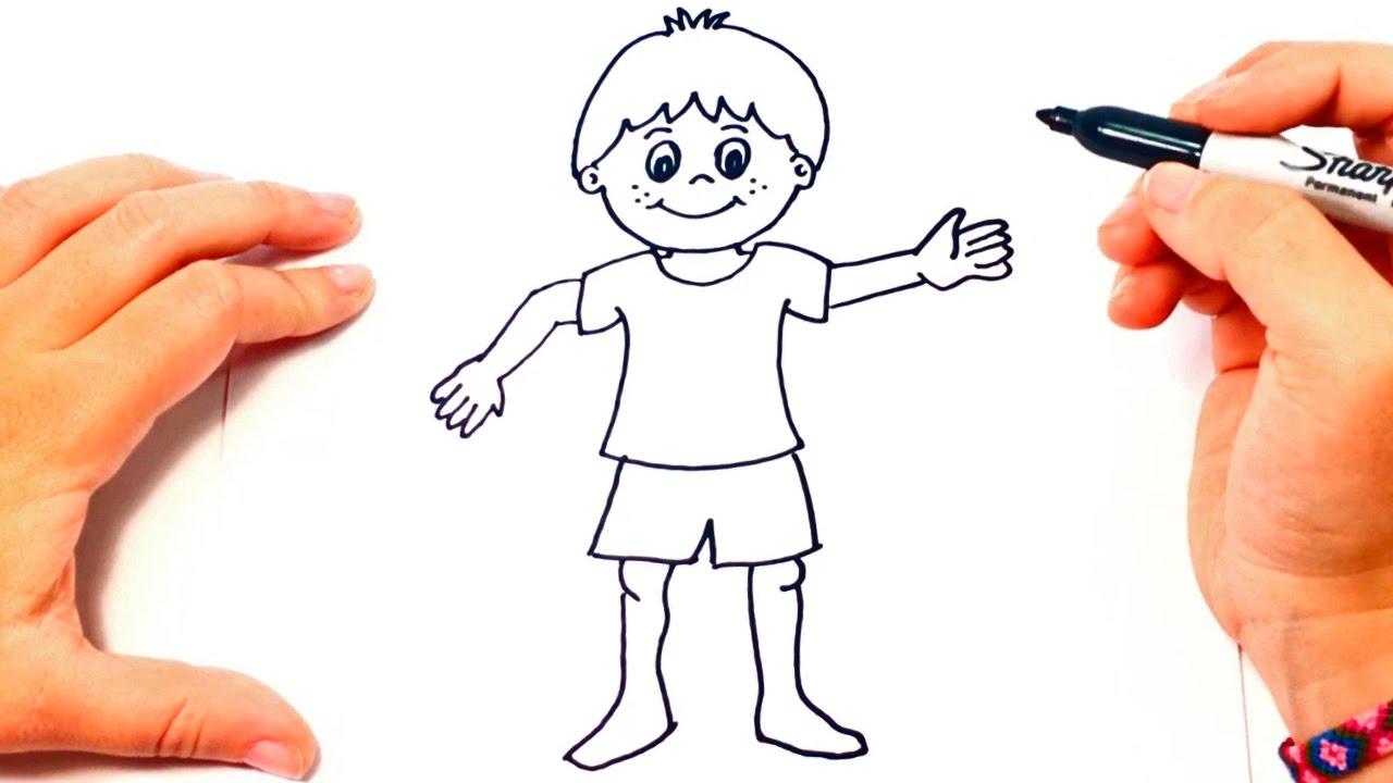 Cómo dibujar un Niño paso a paso Dibujo fácil de Niño, dibujos de Infantil, como dibujar Infantil paso a paso