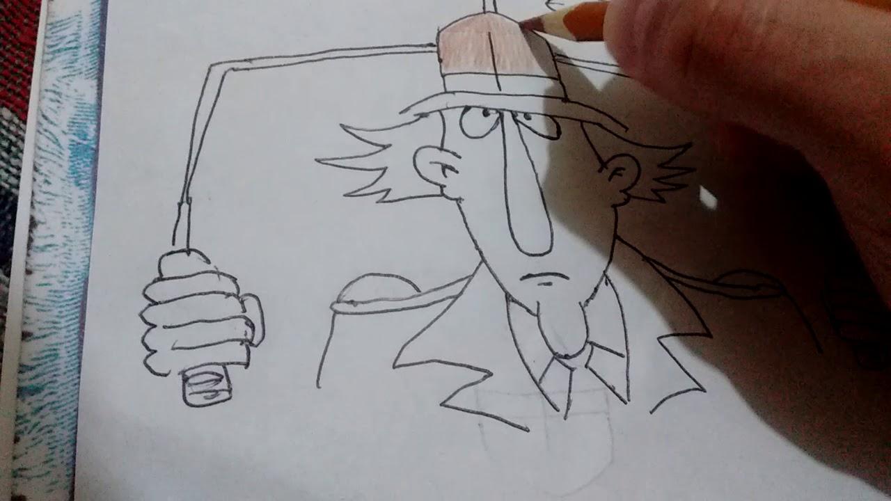 Como dibujar al inspector gadgethow to draw inspector gadget, dibujos de Inspector Gadget, como dibujar Inspector Gadget paso a paso