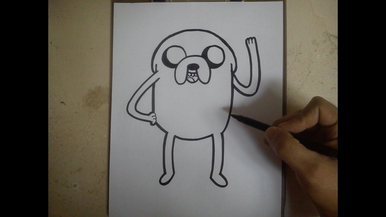 COMO DIBUJAR A JAKE - HORA DE AVENTURA how to draw jake - adventure time, dibujos de Hora De Aventuras, como dibujar Hora De Aventuras paso a paso