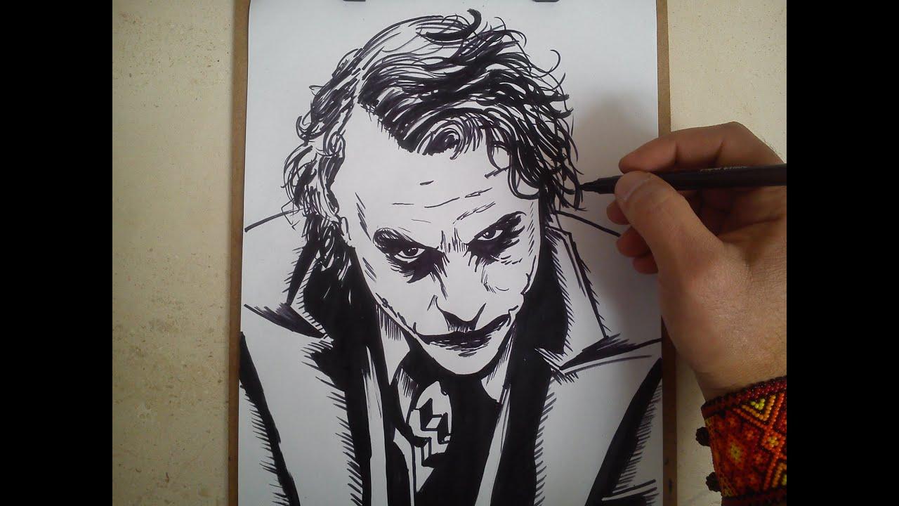 como dibujar a the joker  HOW TO DRAW THE JOKER, dibujos de Guasón, como dibujar Guasón paso a paso